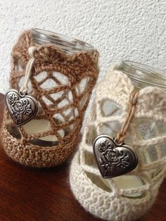 Crochet a jar cover! Inspiration only.