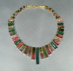 Clare Ullman - Watermelon Tourmaline Necklace. Love this!    need to have