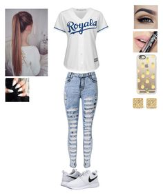 """""""Untitled #87"""" by krystal-dallas ❤ liked on Polyvore featuring Majestic, NIKE, Fiebiger, Anita Ko and Casetify"""