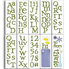 The 55 Best Alphabet Dies My Collection Images On Pinterest