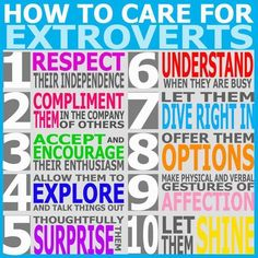 How to care for an extrovert.