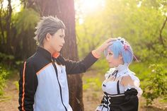 Subaru & Rem-Re:Zero     http://goboiano.com/list/5331-this-rem-and-subaru-cosplay-shoot-will-satisfy-your-shipping-dreams