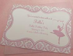 Ballerina Einladung Das Ist Wirklich Eine Schöne Idee Zum Kindergeburtstag.Vielen  Dank Dafür! Dein