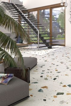 Express yourself. Life is supposed to be fun! 🎨 Terrazzo Tile, Tile Floor, Decoration, Beach House, Family Room, Flooring, Stone, House Styles, Tips