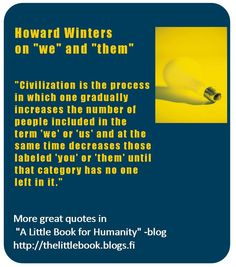 "Howard Winters on ""we"" and ""them"""