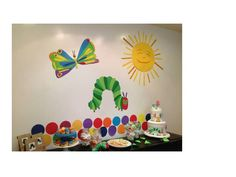 """The Very Hungry Caterpillar"" large wall decor by paperminties.  Visit us at https://www.facebook.com/Paperminties or http://paperminties.blogspot.com"