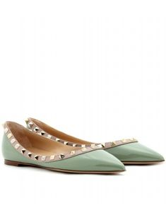 mint rockstud ballerina flats / valentino  Visit:  fashionartist.org/  Like share and repin :)