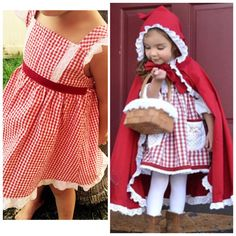 Little red riding hood costume by ChristinasCapes on Etsy