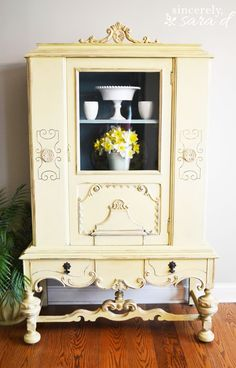 Yellow painted furniture brightens up any space!