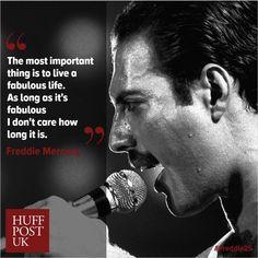 Excellent words from legend Freddie Mercury