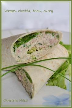 Sandwich recipes 568157309226640735 - Wraps, ricotta, thon, curry Source by Healthy Salad Recipes, Healthy Snacks, Quick Recipes, Queso Ricotta, Tapas, Bruchetta, Wrap Sandwiches, Dinner Sandwiches, Brunch