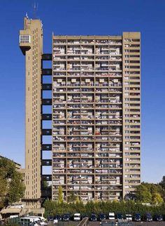 An poster sized print, approx (other products available) - Trellick Tower, 5 Goldborne Road, North Kensington, London. by Erno Goldfinger. General view of elevation. - Image supplied by Historic England - poster sized print mm) made in Australia English Architecture, London Architecture, Space Architecture, Council Estate, Council House, Orange County, Brutalist Buildings, Paulistano, Modern Architecture