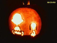 Charlie Brown & Snoopy Pumpkin