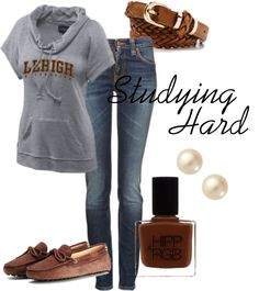 """""""Studying Hard at Lehigh"""" by bncollege on Polyvore"""