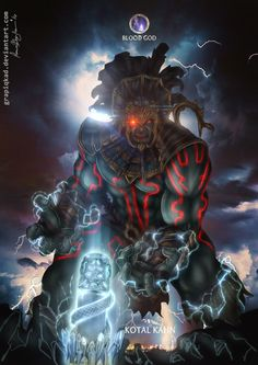 Mortal Kombat X-Kotal Kahn  Blood God Variation by Grapiqkad
