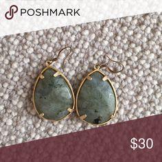Beautiful Stone Earrings Grey/green stone Jewelry Earrings