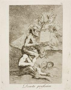 "Francisco de Goya: ""Devota profesion"". Serie ""Los caprichos"" [70]. Etching, aquatint and drypoint on paper, 206 x 165 mm, 1797-99. Museo Nacional del Prado, Madrid, Spain"