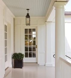 Notice both the square and round columns..anne decker architects : custom lantern by paul ferrante via HEWN