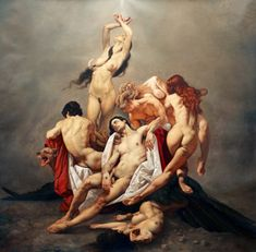 Roberto Ferri an Italian artist and painter, who is influenced by Baroque painters, Caravaggio in particular, and other old masters of Romanticism, Academicism and Symbolism .
