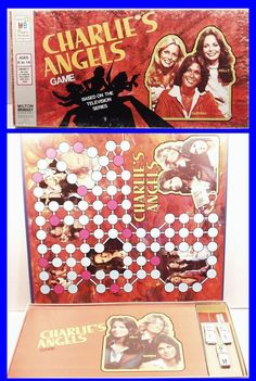"""Vintage 1977 CHARLIE'S ANGELS Board Game by Milton Bradley. LN condition in the original box. Box measures 19"""" x 9-1/2"""". (inventory code bb4)"""