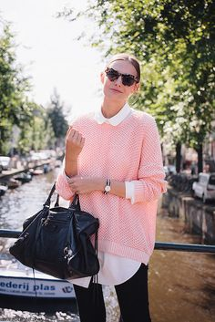 POLIENNE - A personal style diary⎪Spring in Amsterdam by kristy Winter Travel Outfit, Winter Outfits, Sunday Brunch Outfit, Saturday Brunch, Amsterdam Street Style, Winter Chic, Winter Looks, Pull, Kendall Jenner