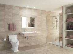 Universal Design, Aging in Place Design, Handicap Accessible Walk-in  Shower, No