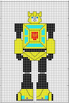 Bumblebee cross stitch pattern by crawdadEmily on DeviantArt Easy Cross Stitch Patterns, Simple Cross Stitch, Cross Stitch Charts, Stitching Patterns, Transformers Bumblebee, Cross Stitching, Cross Stitch Embroidery, Pokemon Cross Stitch, Stitch Character