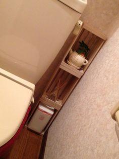 100均リメイクしたトイレ収納