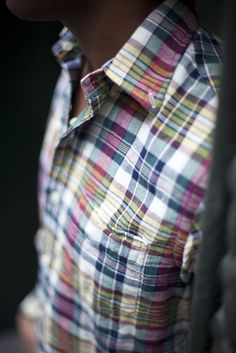 Love Madras in the summer. Pair it with some dark denim or white linen.
