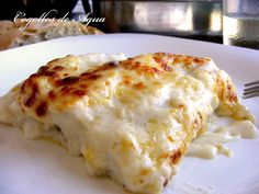 Canelons rap i gambes Tapas, Recipe For 4, Pasta Recipes, Lasagna, Food To Make, Food And Drink, At Least, Appetizers, Snacks