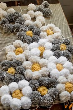 A tips and tricks tutorial for making a pom pom rug really fast!  We give details about what pom pom rug backing to use, how to clean a pom pom rug, and how to make pom poms the right way so your rug lasts a long time.  #pompomrug #yarnrugdiy #pompomcrafts #diyrug #yarncrafts #yarnprojects #pompomideas Pom Pom Crafts, Yarn Crafts, Decor Crafts, Diy Pom Pom Rug, Easy Craft Projects, Yarn Projects, Crafts To Sell, Diy And Crafts, Tapetes Diy