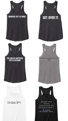 "New site with great workout shirts! ""sweat for the cause to save our planet!"" Love this company!"