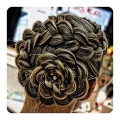 flower hair braid! super long long hair NEEDED! Wow i'm impressed i'm not sure i like her hair color though.