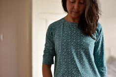 Linden Sweatshirt pattern by Grainline Studio Hello Bear cotton jersey by Bonnie Christine from Art Gallery Fabrics Pretty much always in a Linden sweatshirt when I'm at home. I love