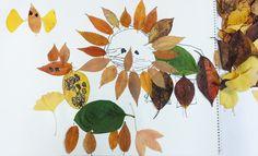 낙엽으로 동물 만들기