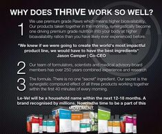 Thrive with me! Sign up as Level Brand Promoter and you could earn free product every month. nicolemrae4401.le-vel.com Here what my experience on Thrive has done for me. Call 712 775 7039 PIN 793478#
