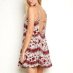 Brandy Melville Jada dress Soooo adorable on! Rose print. Only worn 1 time. I purchased from Brandy Melville with the back string missing. Still perfect fitting. (Cuter that way if you ask me) ✖️offers only through offer button. bundle & save Brandy Melville Dresses