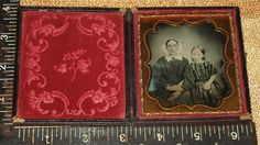 Nice Tinted 6th Plate Daguerreotype Mother and Daughter | eBay