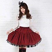 女子高生天使のセクシーなタータンチェックゴスパンクロリータ赤と黒クラブスカート    – JPY ¥ 2,846