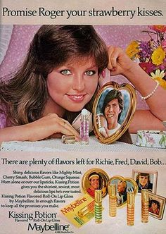60s70sand80s:  Maybelline Kissing Potion lip gloss ad, 1970s