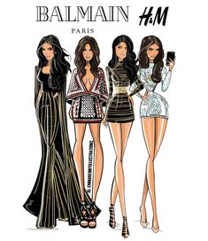 """""""Actually OBSESSED with @balmainxhm,  #repost of some @balmainparis looks from this year ♥"""""""