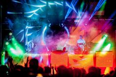 One of the best shots of Big Gigantic. Look at all the color! #lights #music