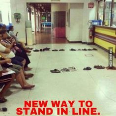 New Way to Stand in a Line!