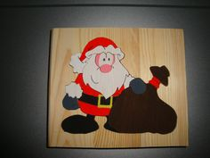 Nikolauspuzzle, handgesägt und bemalt