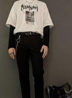 𝔱 𝔯 𝔞 𝔷 fashion mode, grunge fashion, grunge men, korean fashion, men&a Grunge Outfits, Edgy Outfits, Mode Outfits, Edgy School Outfits, Korean Outfits, Boy Fashion, Korean Fashion, Fashion Outfits, Harajuku Fashion