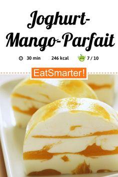 Joghurt-Mango-Parfait - smarter - Kalorien: 246 kcal - Zeit: The Effective Pictures We Offer Y Mango Desserts, Parfait Desserts, Easter Desserts, Healthy Breakfast Breads, Healthy Breakfast Smoothies, Healthy Breakfasts, Mango Parfait, Yogurt Parfait, Tupperware
