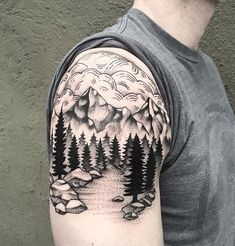 97 Awesome Best Mountain Tattoo, Silhouette Mountain Tattoo, 60 Awesome Armband Men Tattoo Designs – Best Arm Tattoos, Watercolor Mountain Tattoo at Getdrawings, Skull Mountain Tattoos. Cool Shoulder Tattoos, Mens Shoulder Tattoo, Trendy Tattoos, Tattoos For Guys, Cool Tattoos, Tatoos, Tattoo Guys, Body Art Tattoos, Sleeve Tattoos