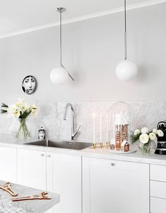 White Wood, Dining Room, Home Kitchens, Ceiling Lights, Bathroom, Decor Interior Design, Kitchen Interior, Lighting, Humble Abode