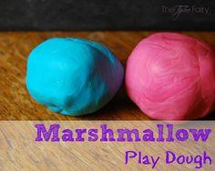 Marshmallow Play Dough | The TipToe Fairy