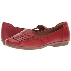 93f1a004a95 Clarks Gracelin Gemma (Red Leather) Women s Shoes (220 BRL) ❤ liked on